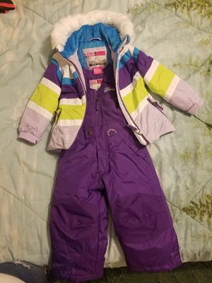 Girls winter snow suit with suspenders and matching winter coat for Sale in Buckingham, VA