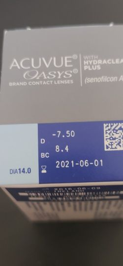 Acuvue Oasys Contact Lenes -7.50 for Sale in Sunol,  CA