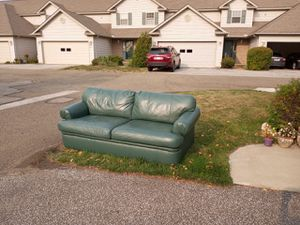 Green genuine leather couch for Sale in Erie, PA