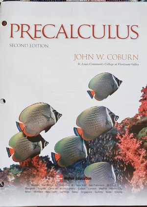 Pre-Calculus by John W. Coburn, 2nd edition for Sale in Lake Park, NC