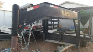 Goose neck trailer with new wood deck 8ft x 12 ft long for Sale in Sun City, AZ