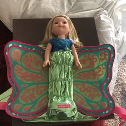 American Girl Doll + Extra Clothing And Sleeping Bag + Backpack for Sale in Oxnard,  CA