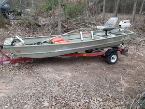 Lowes 11ft John boat n trailer clear titles for Sale in Chesterfield, VA