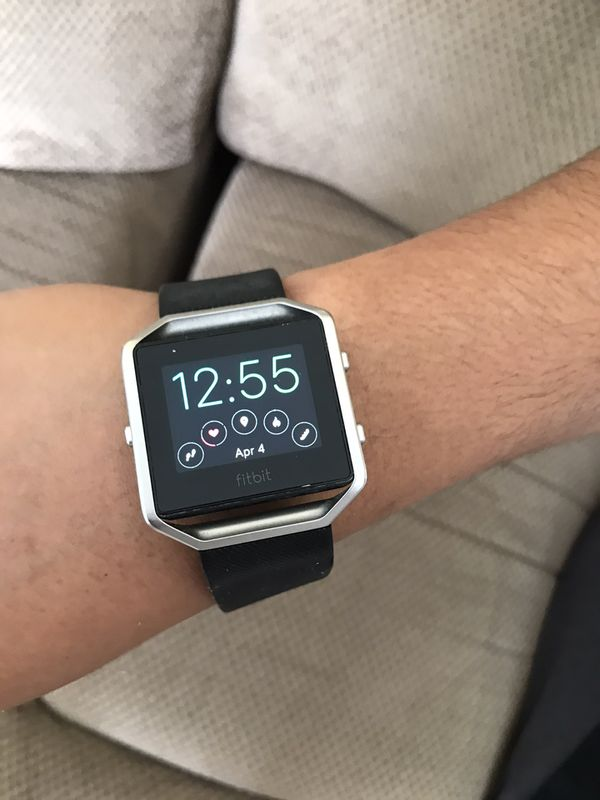 Black Fitbit Blaze Large Watch with Charger