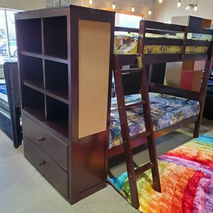 Twin/Twin BUNK BED With BOOKCASE for Sale in Yonkers, NY