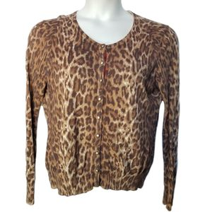 Lucky Brand Leopard Print Cardigan XL for Sale in Las Vegas, NV