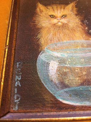 Antique canvas painting by RENALD J. for Sale in Payson, AZ