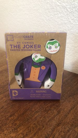 Dc Comics The Joker painted wooden figure Great gift for any Batman or Joker Fan !!! for Sale in Chula Vista, CA