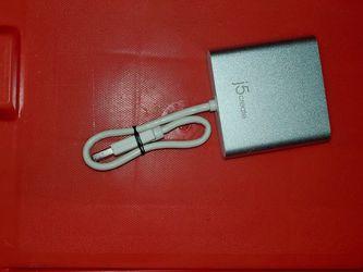 j5create - USB 3.0 to Dual 4K/HD HDMI Multi-Monitor Adapter - Silver/White for Sale in San Leandro,  CA