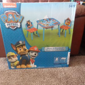 Paw Patrol Chair And Table Set for Sale in Tijeras, NM