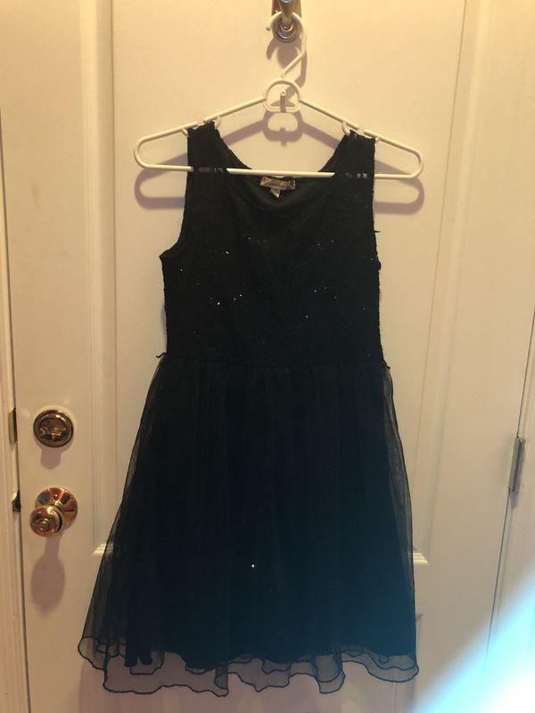 Sparkly black dress