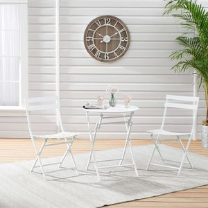 Mainstays 3-Piece White Folding Bistro Table and Chair Set for Sale in HOFFMAN EST, IL
