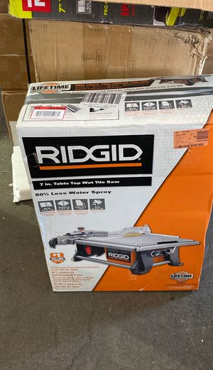 RIDGID 6.5 Amp Corded 7 in. Table Top Wet Tile Saw for Sale in Phoenix, AZ