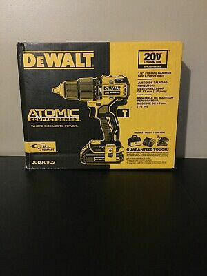 Dewalt ATOMIC 20-Volt MAX Lithium-Ion Cordless Brushless 1/2 in. Compact Hammer Drill Kit for Sale in Stickney, IL