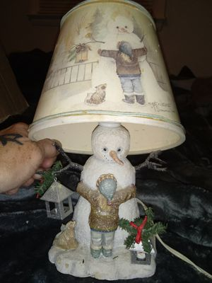 Snowman Lamp for Sale in Clayton, NC