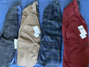SELL TODAY - Lot of 4 - Men's BRAND NEW ZARA Jackets sz 38R for Sale in Queens, NY