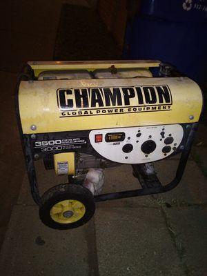 Champion 3500 Watt generator for Sale in Austin, TX