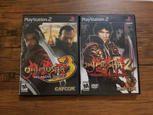 Onimusha 2 and Onimusha 3 (PS2) for Sale in Pembroke Park, FL