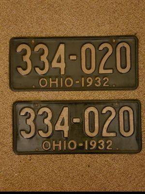 Set of 1932 Ohio license plates ($32.50 each $59.99 for the set) for Sale in Columbus, OH