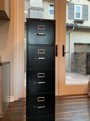 HON 4 drawer Filing Cabinet (black) for Sale in Mission Viejo, CA