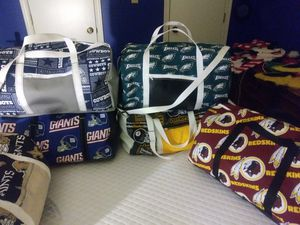 NFL duffle bags(hand made) for Sale in Hampton, VA