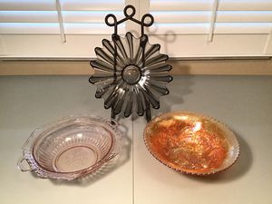 Glass Bowls Vintage Collectible lot of 3 for Sale in Clermont, FL