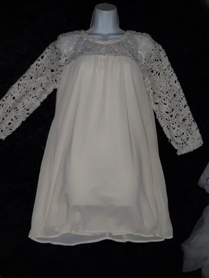 Baptism, Easter, etc... long sleeve lace dress for Sale in Garland, TX
