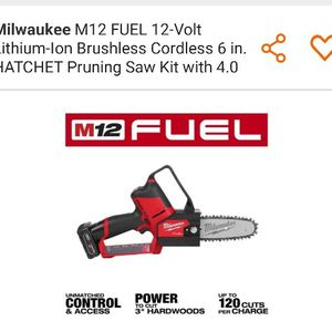Milwaukee Pruning Saw Kit for Sale in Renton, WA