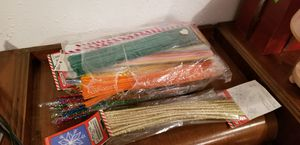 Pipe cleaners wire fuzzy bendy craft sticks for Sale in Davenport, IA