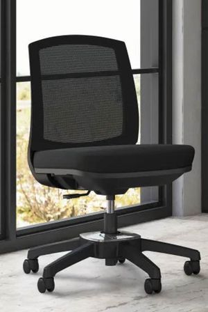 NEW HON model HVL951 Black Task Office Computer Armless Chair Adjustable Height Black Average Online Price $280 for Sale in Whittier, CA