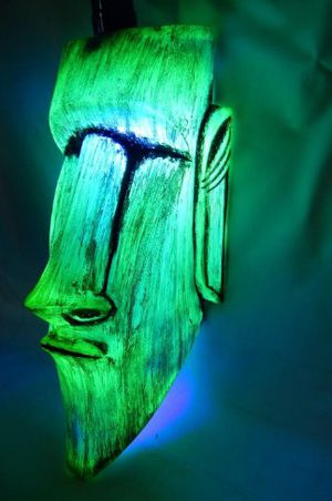 Tiki Moai hanging lamp for Sale in Tualatin, OR