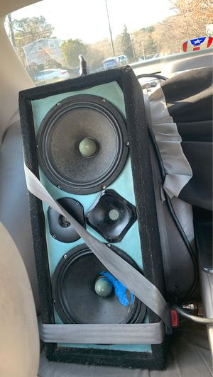 400w 8ohm 10' BR Speakers with one 300w tweeter and a 1000w tweeter from audio pipe. FULLY FUNCTIONAL READY TO USE. 220$ OBO for Sale in Stoughton, MA