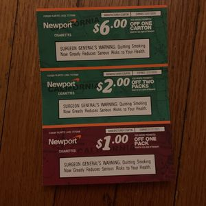 Newport cigarettes coupon for Sale in Los Angeles, CA