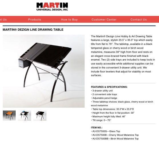 Martin Dezign Line Glass Art Table