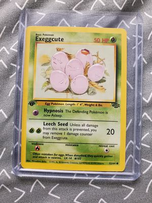 Exeggcute 52/64 1st Edition Jungle Set Pokemon TCG Game Trading Cards Grass for Sale in Indianapolis, IN