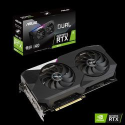 ASUS Dual NVIDIA GeForce RTX 3070 OC Edition Gaming Graphics Card (PCIe 4.0, 8GB GDDR6 Memory, HDMI 2.1, DisplayPort 1.4a, Axial-tech Fan Design, Dual for Sale in Fontana,  CA