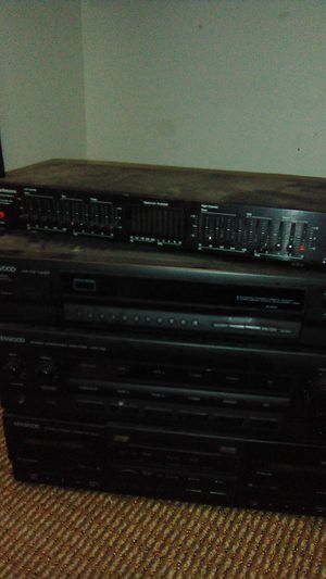 Kenwood integrated amp/ stereo double cassette for Sale in Poway, CA