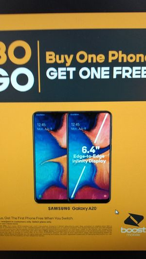 BOGO on the Samsung Galaxy A20 free when you port over from another carrier for Sale in Spokane, WA