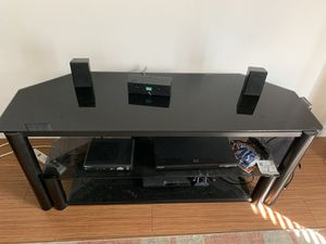 Glass TV stand for Sale in Carrollton, TX