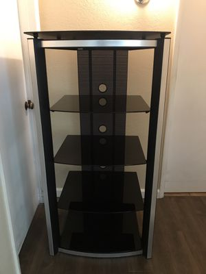 Awesome TV Stand Audio Rack AV Glass Metal for Sale in Clovis, CA