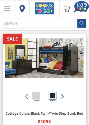 Black solid wood bunk beds *excellent condition* for Sale in Fort Lauderdale, FL