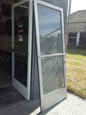 storefront aluminum glass door with key 36x82 for Sale in Los Angeles, CA