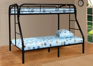 Twin over Full Metal Bunk Bed, Black for Sale in Santa Ana, CA