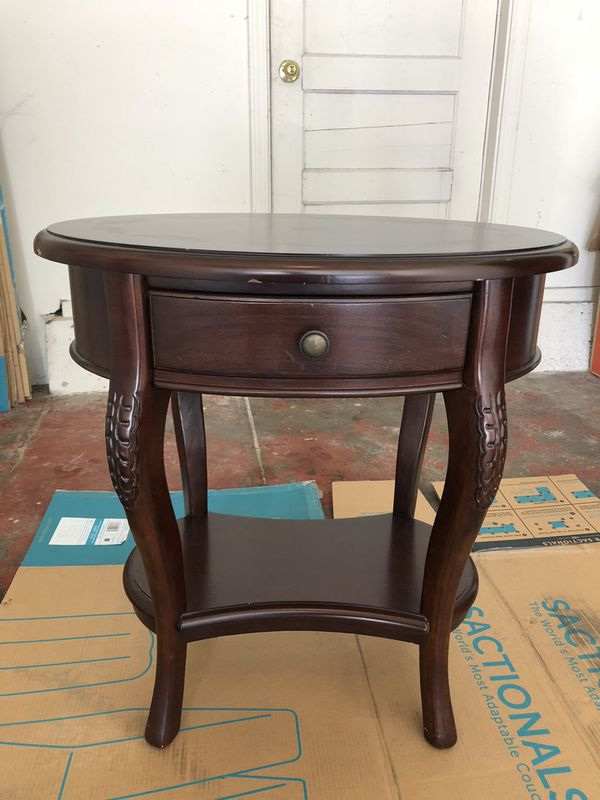 Wooden end table set