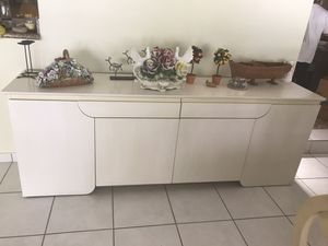 Side buffet cabinet dresser entry foyer console table for Sale in Plantation, FL