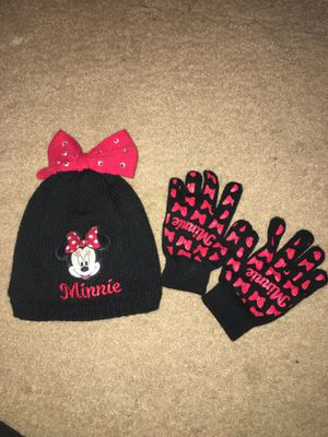 Minnie Mouse hat and gloves toddler girls for Sale in Alexandria, VA
