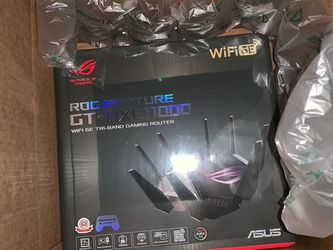ASUS ROG Rapture WiFi 6E Gaming Router (GT-AXE11000) - Tri-Band 10 Gigabit for Sale in Woodbridge Township,  NJ
