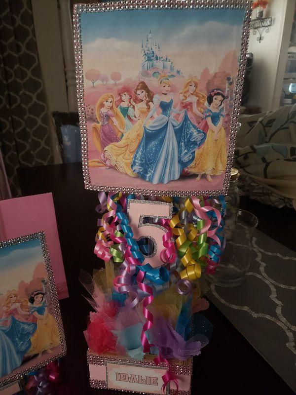 Arreglos de mesa de las princesas de disney