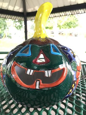 Decorative pottery pumpkin!! Hand painted! for Sale in Knoxville, TN