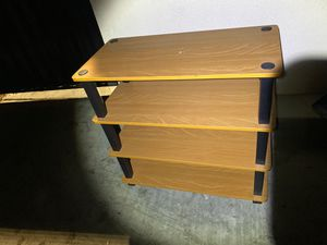 """4 shelf wood side table - 24"""" wide, x25"""" tall and14"""" depth for Sale in Sunnyvale, CA"""